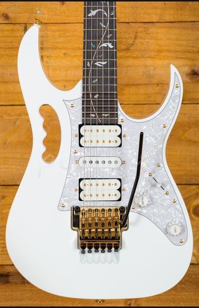 Ibanez Steve Vai JEM7V-WH White Electric Guitar - Peach Guitars