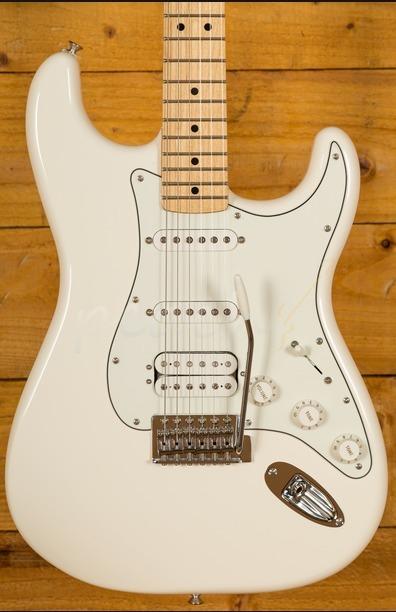 Fender Mexican Standard HSS Strat Arctic White Maple Neck