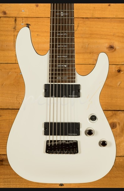 Schecter Demon-8 Vintage White