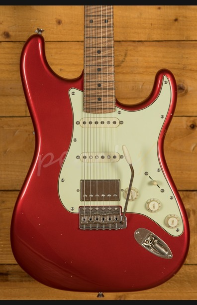Xotic California Classic XSC-2 Candy Apple Red Light Aged