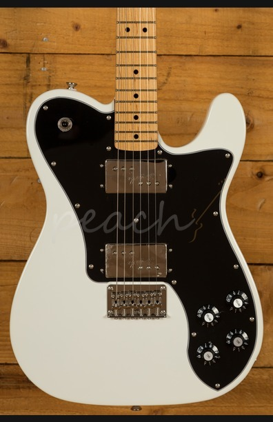 Squier Classic Vibe 70s Tele Deluxe Maple Neck Olympic White