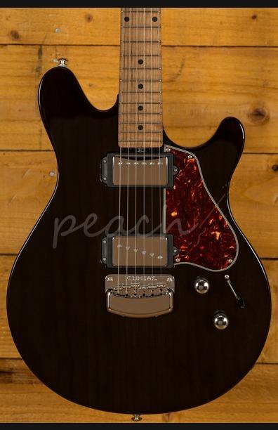 Ernie Ball Music Man Valentine Guitar Trans Black