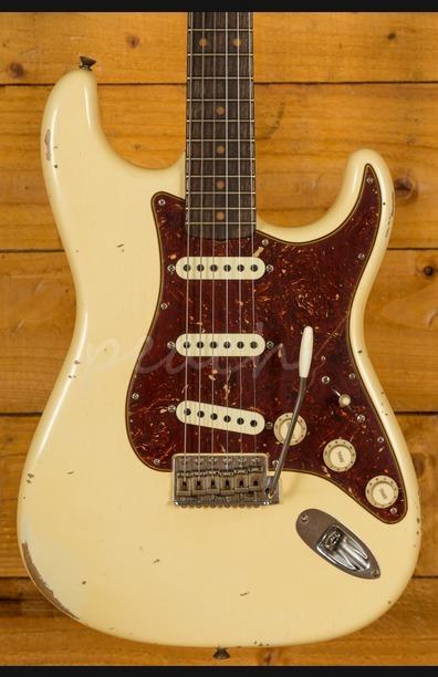 Fender Custom Shop Roasted 1960 Strat Relic Aged Vintage White