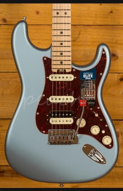 Fender American Elite Strat HSS Maple Satin Ice Blue Metallic