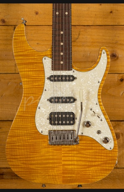 Tom Anderson Hollow Drop Top Classic Translucent Yellow Used